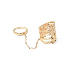Chic Legering med Strass Damer' Mode Ringar