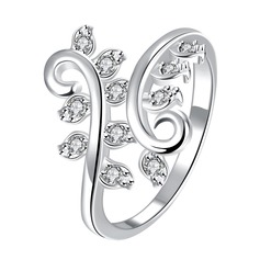 Bonito Cobre/Zircon/Prateado Senhoras Anéis
