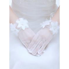 Вуаль Наручные длина Свадебные перчатки