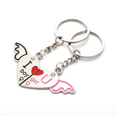 "Personalized ""I love You"" Zinc Alloy Keychains (Set of 6 Pairs)"