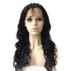 Vågig Human Hair Parykar Hel-spets