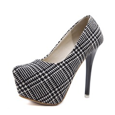 Women's Fabric Stiletto Heel Pumps Platform With Others shoes
