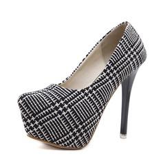 Kvinnor Tyg Stilettklack Pumps Plattform med Andra skor
