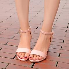 Vrouwen Kunstleer Wedge Heel Pumps Wedges met Gesp schoenen