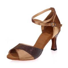 De mujer Satén Tacones Sandalias Danza latina con Tira de tobillo Zapatos de danza
