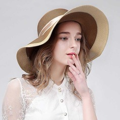 Ladies' Beautiful Rattan Straw Floppy Hat