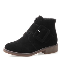 Women's Low Heel Boots Ankle Boots With Buckle Zipper shoes