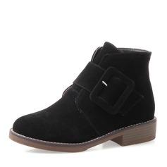 De mujer Tacón bajo Botas Botas al tobillo con Hebilla Cremallera zapatos