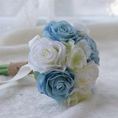 Attaché à la main Satiné/PE Bouquets de demoiselle d'honneur (vendu en une seule pièce) -