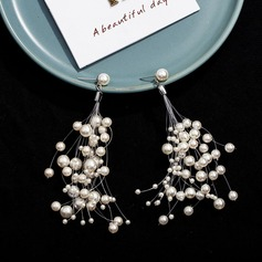 Unique Alloy/Imitation Pearls Ladies' Earrings