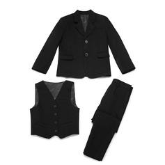 Garçons 3 pièces Solide Costumes pour les porteurs de bague /Costumes De Garçon De Page avec Veste Gilet Un pantalon