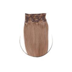 4A Ej remy Rakt människohår Klämma i hårförlängningar 7pcs 70g