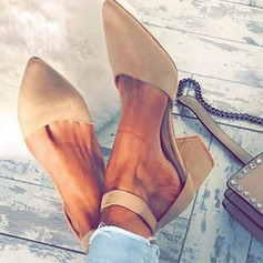 Women's Leatherette Chunky Heel Sandals Pumps Closed Toe With Others shoes