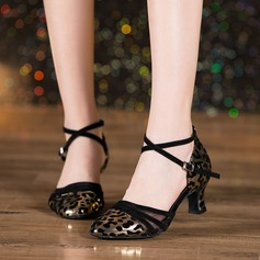 Women's Leatherette Mesh Latin Dance Shoes