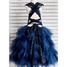 Corte de baile Hasta el tobillo Vestidos de Niña Florista - Tul/Encaje Sin mangas Correas de hombro