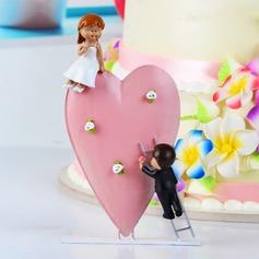 """""""Jag Vill du älskar dig"""" Harts Bröllop Tårtdekoration"""