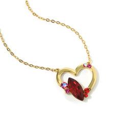 Damen Herzförmige Kristall/Kupfer mit Marquise Kristall Halsketten Für Sie (011228410)