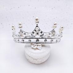 Maravilloso Rhinestone/Aleación Tiaras con Perla (Se venden en una sola pieza)