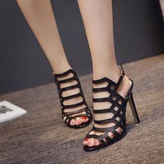 De mujer Cuero Tacón stilettos Sandalias Encaje Solo correa con Hebilla Agujereado zapatos