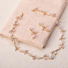 Ladies' Romantic Copper/Cubic Zirconia Cubic Zirconia Jewelry Sets For Bride