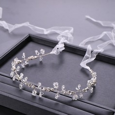 Ladies Exquisite Rhinestone/Alloy/Imitation Pearls Headbands With Rhinestone/Venetian Pearl (Sold in single piece)