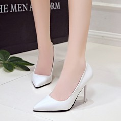 Women's PU Stiletto Heel Pumps Closed Toe shoes