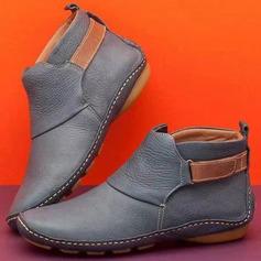 Kvinder PU Flad Hæl Støvler Ankelstøvler sko