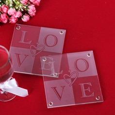 """""""Liebe"""" Glas Untersetzer"""