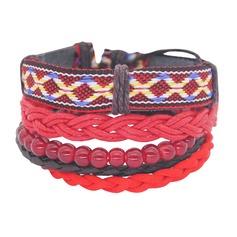 Snygg Korgarbeten Bomull Sträng Könsneutrala Mode Armband (Säljs i ett enda stycke)
