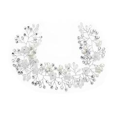 Damer Glamorösa Kristall/Strass/Fauxen Pärla Pannband med Strass/Venetianska Pärla/Kristall (Säljs i ett enda stycke)