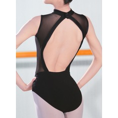 Frauen Tanzkleidung Elasthan Ballett Training Turnanzug Einteiler