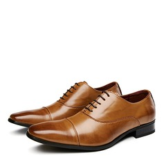 Mannen Echt Leer Cap Toes Vastrijgen Casual Kleding schoenen Klassieke schoenen voor heren