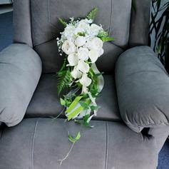 Bonito Forma livre Flor de seda Buquês de noiva - Buquês de noiva