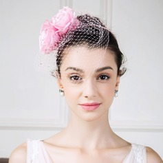 Damen Jahrgang Seide mit Seide Blumen Kopfschmuck