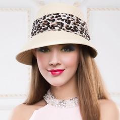 Senhoras Lovely Verão Rattan de palha com Chapéu de palha