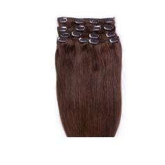 4A Nicht remy Gerade Menschliches Haar Haarverlängerungen zum Anklammern 7PCS 70g