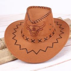 Mannen Wijnoogst Imitación De Cuero Cowboyhoed