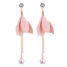 Fashional Alloy Rhinestones Fabric Ladies' Fashion Earrings