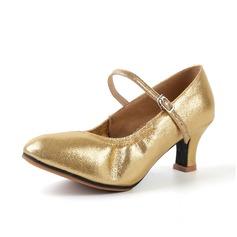 Femmes Similicuir Talons Sandales Chaussures de Caractère avec Boucle Ouvertes Chaussures de danse