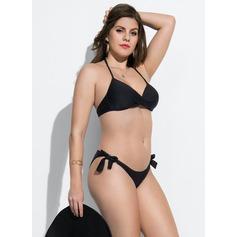 Elegant Underwire Lav Midje Polyester Bikinis Badedrakt