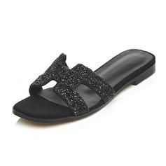 Vrouwen Echt leer Flat Heel Sandalen Slippers schoenen