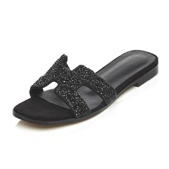 De mujer Piel Tacón plano Sandalias Pantuflas zapatos