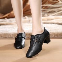 De mujer Piel Tacones Danza latina Estilo Moderno Jazz con Hebilla Zapatos de danza