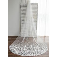 Uno capa Velos de novia vals con Apliques