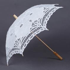 Bedårende Bomull Bryllup Paraplye