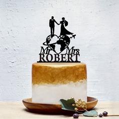 Personalizado La novia y del novio/Dulce Amor Acrílico Decoración de tortas