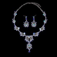 Utsökt Legering Guldpläterad med Oäkta Stenar Damer' Smycken Sets (Sats om 3)