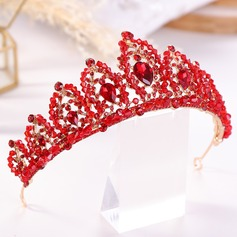 Ladies Exquisite Rhinestone/Alloy Tiaras With Rhinestone (Sold in single piece)