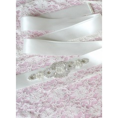 Gorgeous Ribbon Sash With Rhinestones/Imitation Pearls (015101439)