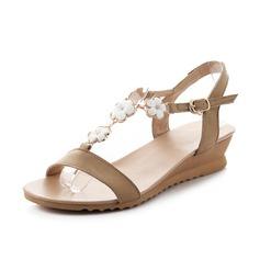 Äkta läder Kilklack Sandaler Slingbacks skor